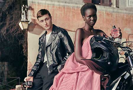 Anwar Hadid and Adut Akech for Valentino
