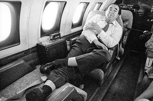 Robert Maxwell on his private jet