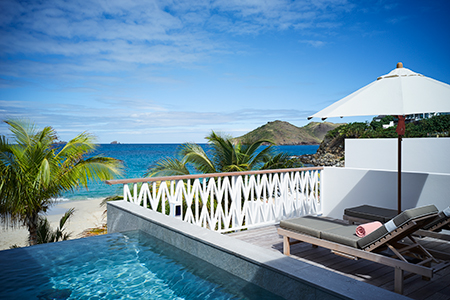 A beachfront suite with private pool at Cheval Blanc St. Barth Isle de France
