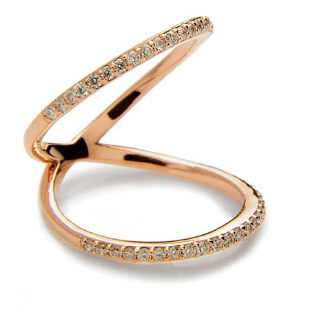 The Diamond Love Twist ring by Meredith Kahn