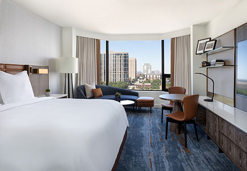 A guest room at Four Seasons Hotel Houston