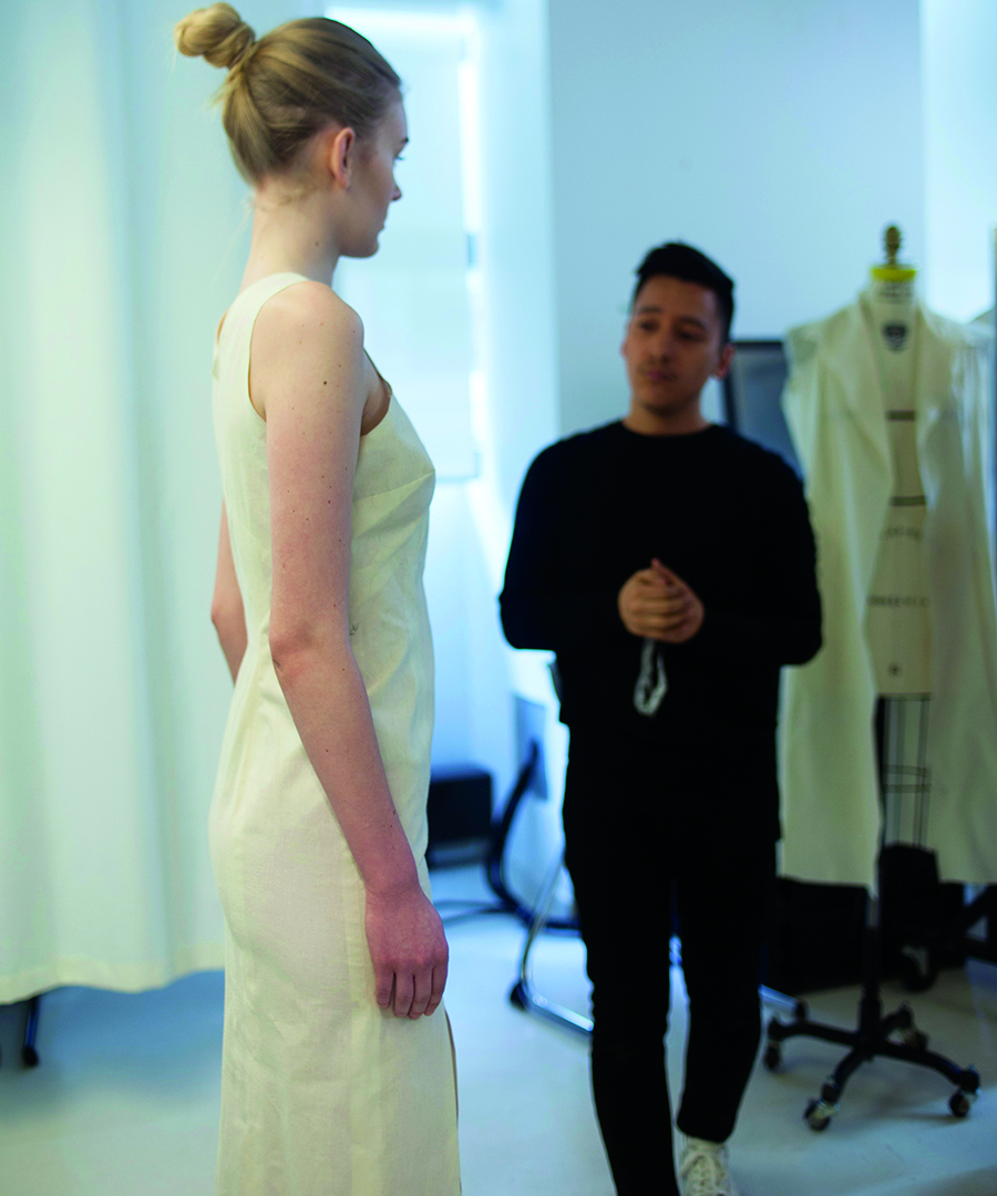 Parsons Graduate Channels the 'Dean of American Fashion'