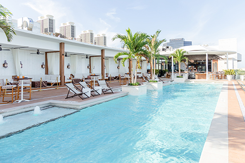The pool deck at The Ben West Palm