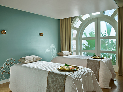 The spa at the Beverly Hills Hotel