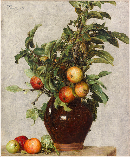 """Henri Fantin-Latour, """"Still Life with Apples,"""" (1878) at The Museum of Fine Arts, Houston"""