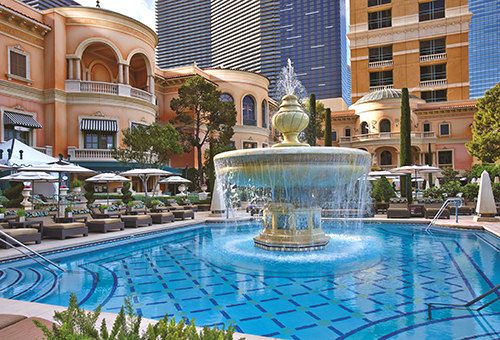 The Cypress Pool Fountain at the Bellagio