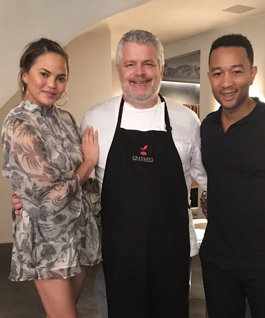 Inside Chrissy Teigen and John Legend's Meal Kit Dinner Party