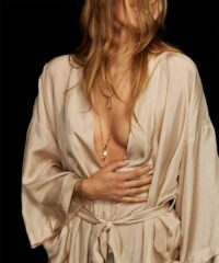 Jewelry designer Meredith Kahn expands her collection and introduces a new line of silk robes