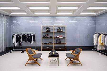 The Thom Browne boutique at South Coast Plaza