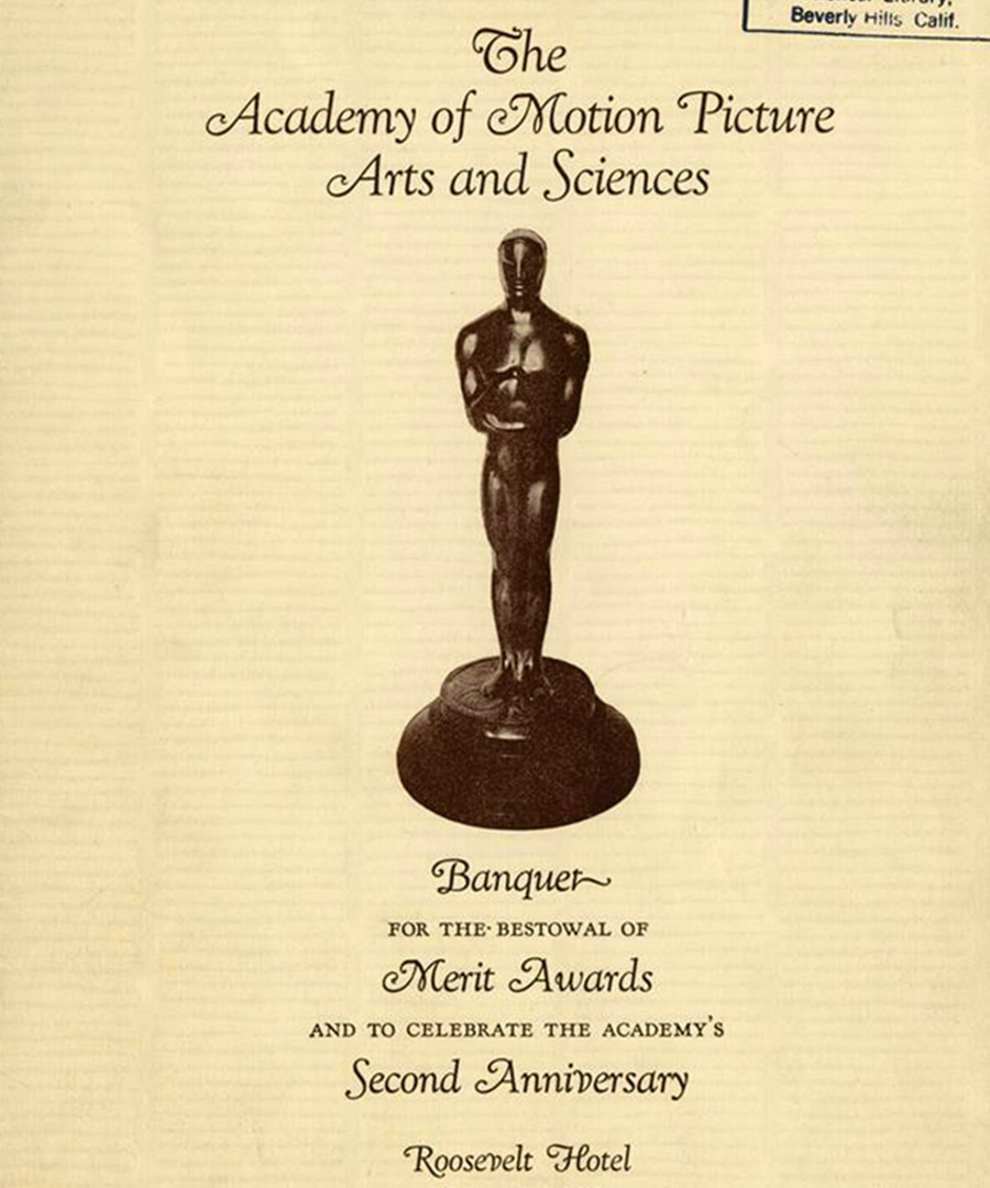 See the Menu from the First Oscars Ceremony