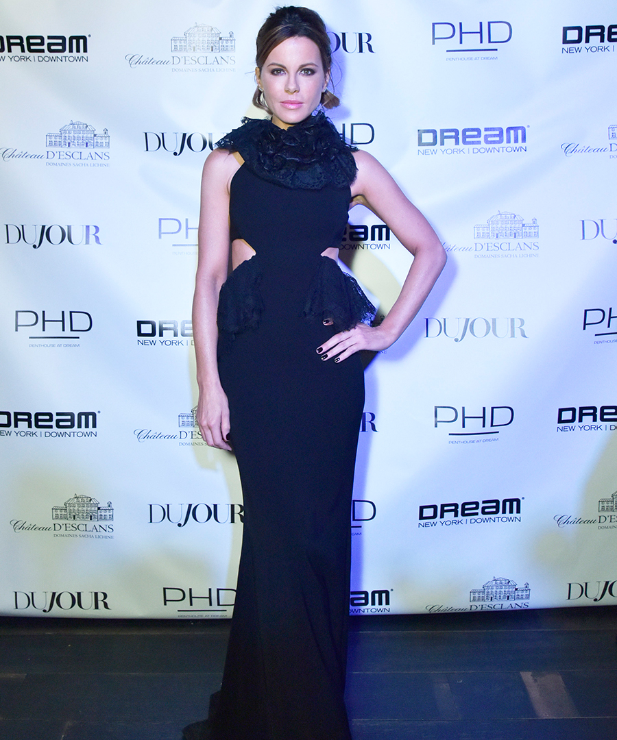 Inside DuJour's Spring Cover Party With Kate Beckinsale