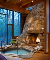The Hottest Hotel Fireplaces