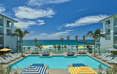 The pool at the Seabird Resort