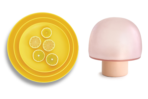 The brand's Modern Tableware collection and the Mushroom Lamp