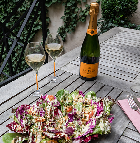Veuve Clicquot and a winter salad