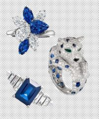 Shop 7 Classic Blue Engagement Rings