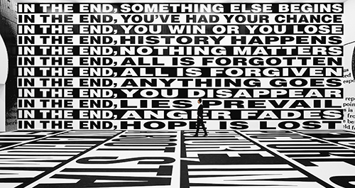 """""""Untitled (Forever)"""" (2017) Installation view, Sprüth Magers, Berlin, Amorepacific Museum of Art (APMA), Seoul. © Barbara Kruger. (Photo by Timo Ohler and courtesy of Sprüth Magers)"""