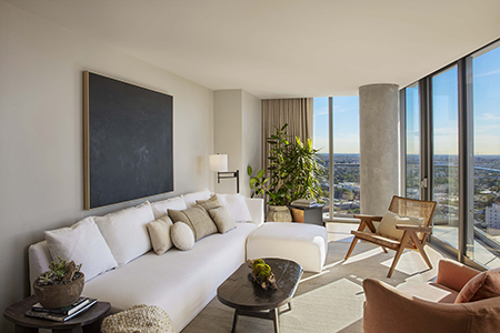 Panoramic Suite at the 1 Hotel West Hollywood