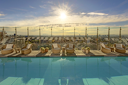Pool Deck at the 1 Hotel West Hollywood