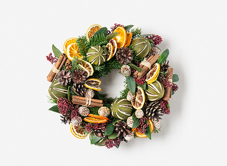 citrus table wreath
