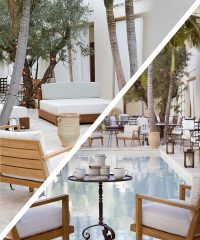 The designer and entrepreneur unveils Villa Jasmine at The Colony Hotel in Palm Beach