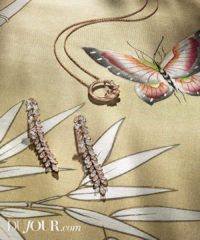 We Love High Jewelry Backed by Bespoke Wallpaper from De Gournay