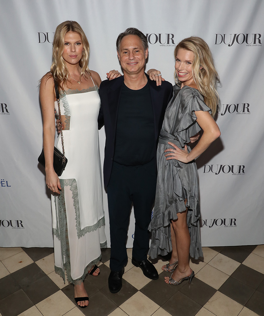 Inside DuJour's Cover Party With The Richards Sisters