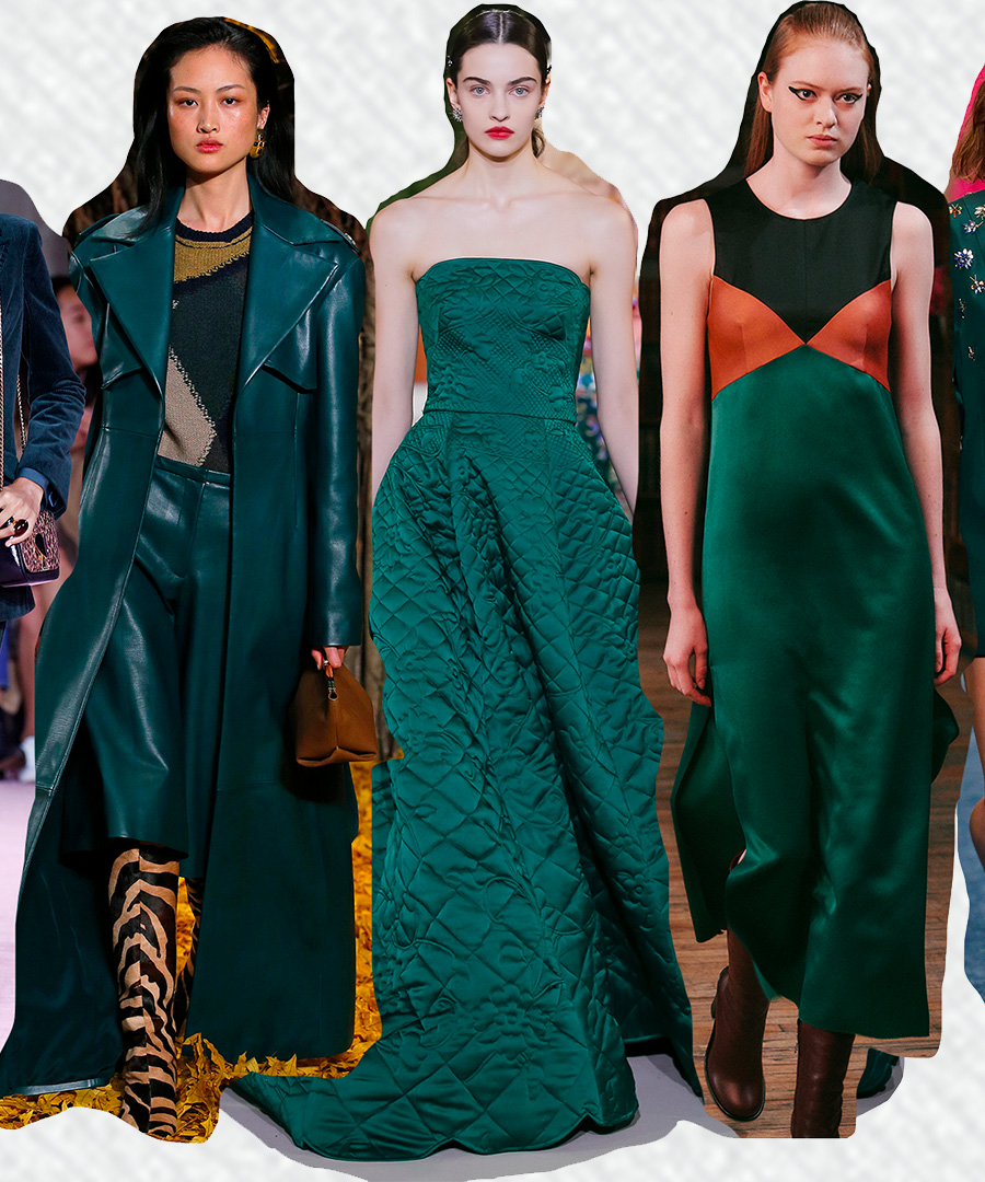 On The Runway: Forest Green Style Trend