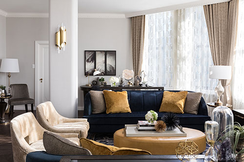 The Morningside Suite living room at the Fairmont Hotel Vancouver
