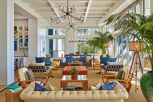TheShore Room lounge at the Seabird Resort