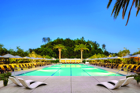 The pool at the Solage, Auberge Resorts Collection