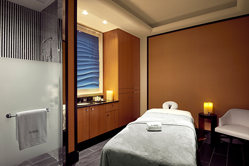 Treatment room at The La Prairie Spa at the Waldorf Astoria Beverly Hills