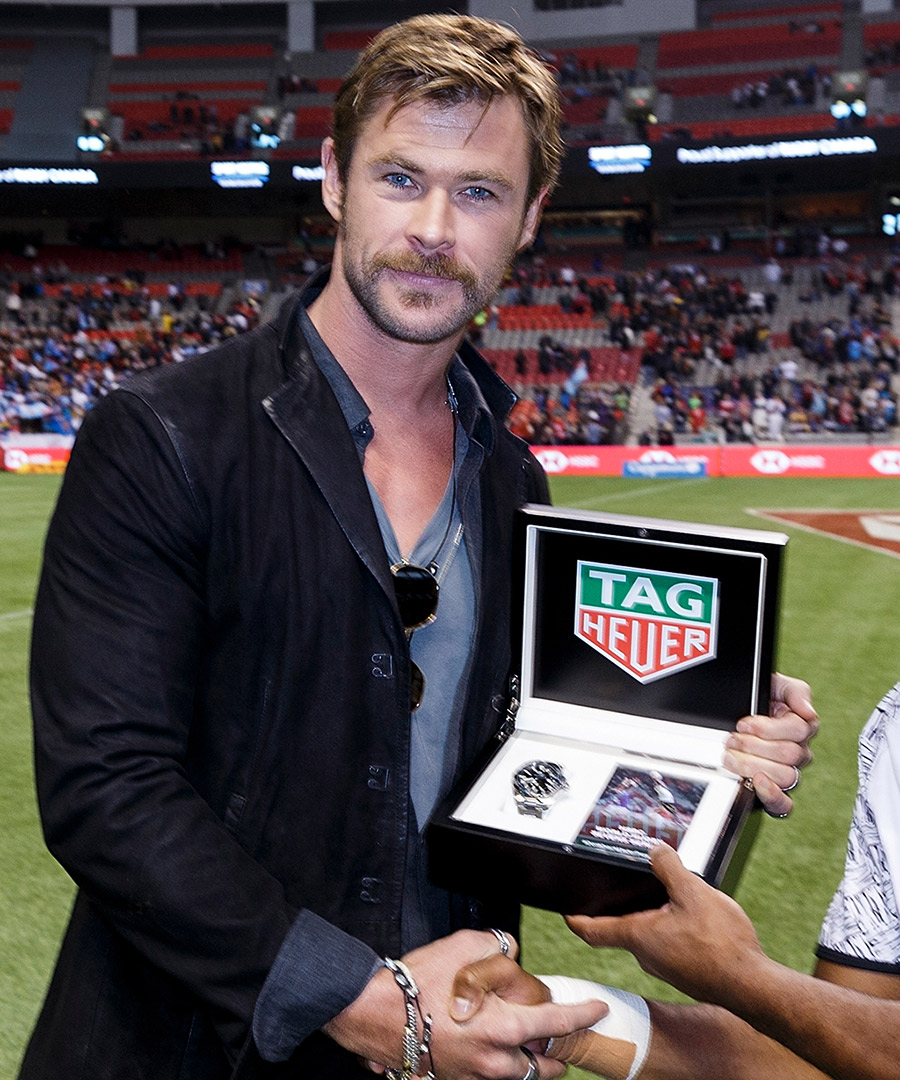 Chris Hemsworth Times Rugby Tournament with TAG Heuer