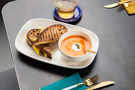 Grilled Cheese and Chloe's Tomato Soup at Madame ZuZu's