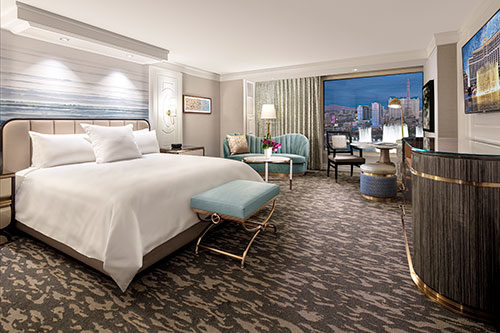 A new queen room at the Bellagio