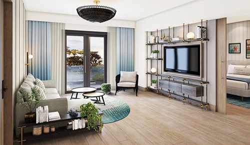 A suite living room at The Ray