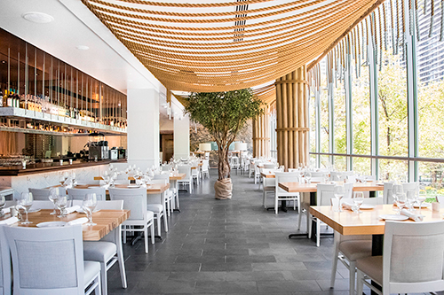 The main dining room at Avli on The Park